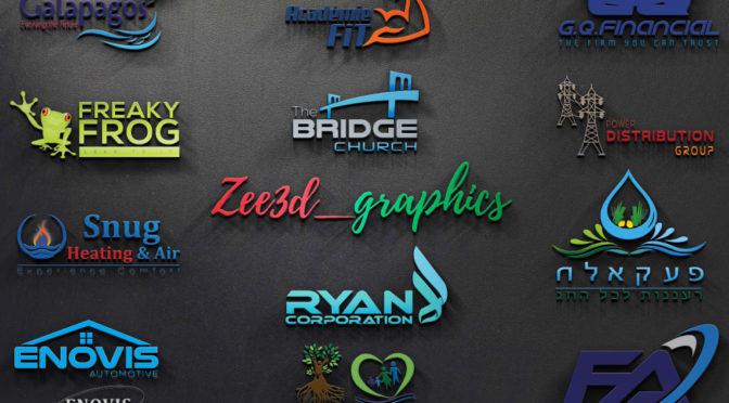 Do Modern Minimal Brand 3d Company Logo